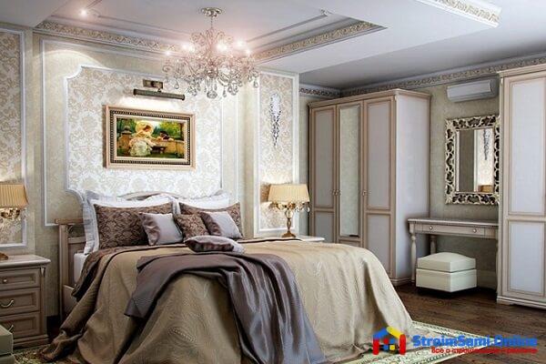 На фото: дизайн спальни в классическом стиле