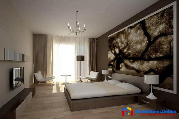 На фото: дизайн спальни в стиле минимализм