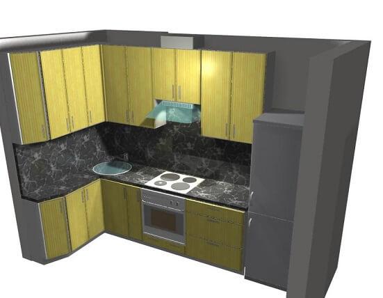 На фото: угловая кухня для маленькой кухни