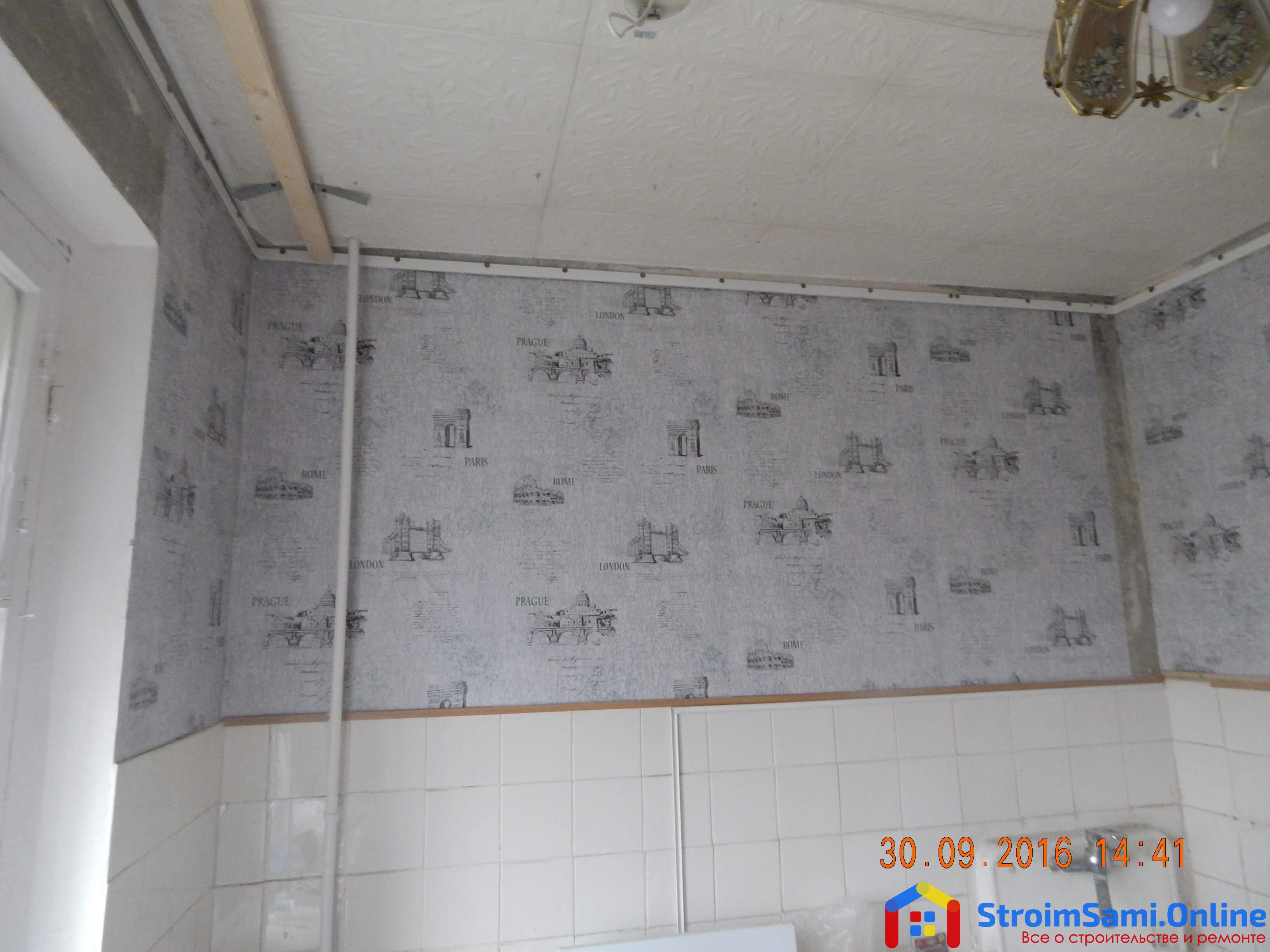 На фото: кухня ДО монтажа натяжных потолков