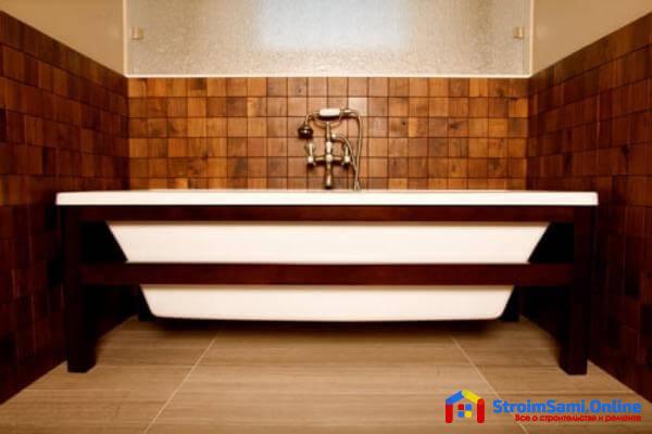 Керамическая плитка под дерево для ванной