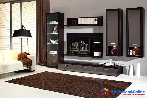 На фото: мебель для гостиной в современном стиле