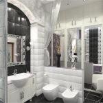 На фото: ванная комната в стиле Ар-Деко