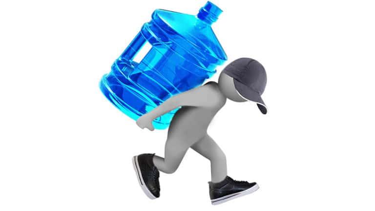 Доставка питьевой воды: иллюстрация