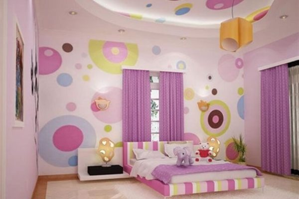 На фото: обои для детской комнаты для девочки