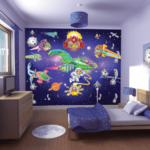 На фото: обои для детской комнаты для мальчика