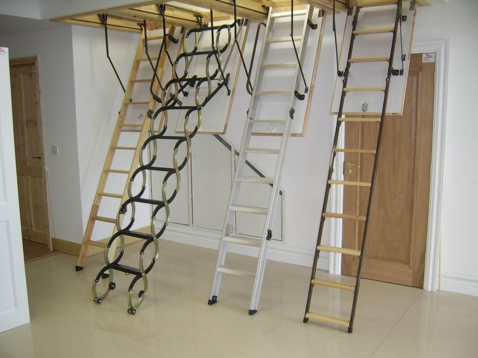 На фото: чердачные лестницы