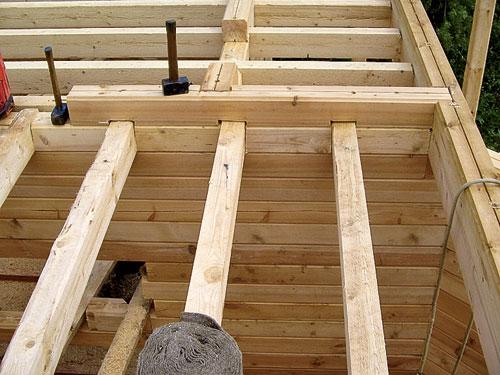 Технология монтажа деревянных балок перекрытия