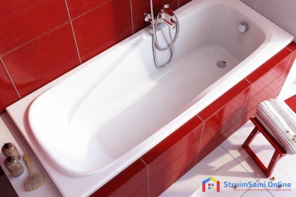 На фото: акриловая ванна