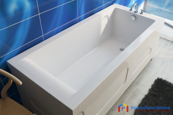 На фото: ванна из искусственного камня