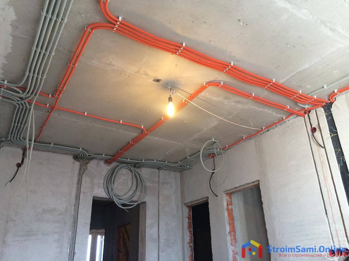 Монтаж электросети в квартире