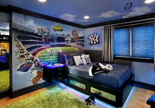 Стиль комнаты для мальчика-подростка