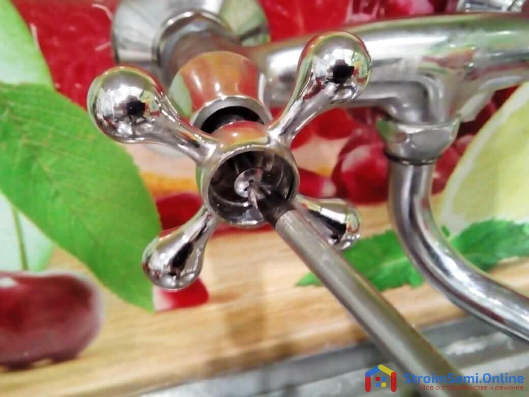 Замена кран-буксы в двухвентильном смесителе