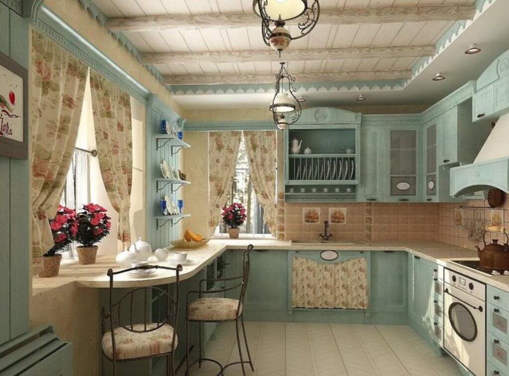 Кухня в стиле прованс: фото интерьер своими руками