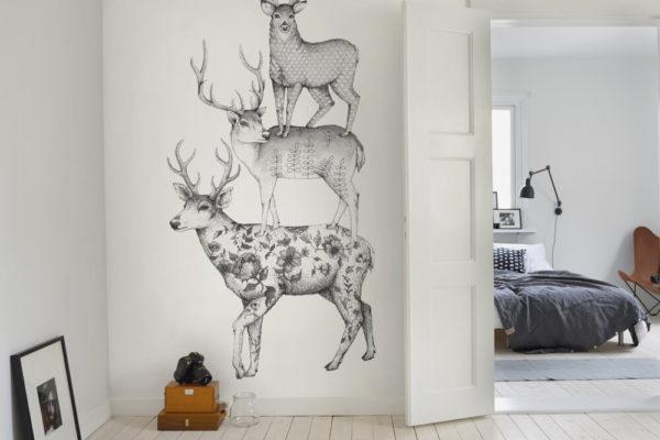 Современные рисунки на стенах