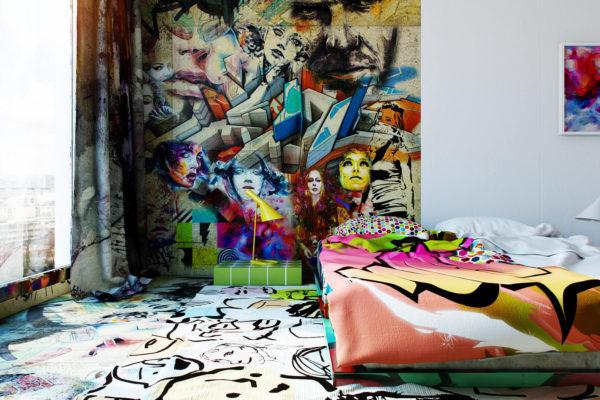 Дизайнерские стены в квартире