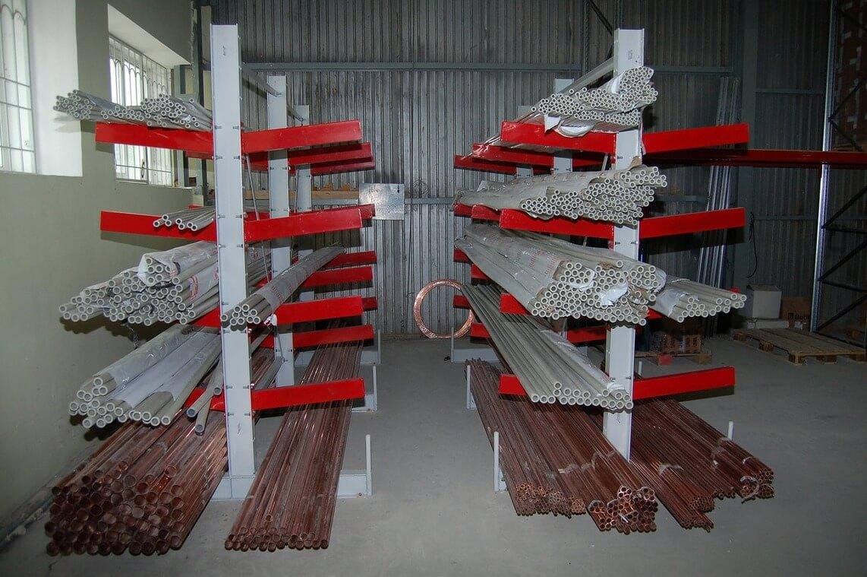Консольные металлические стеллажи