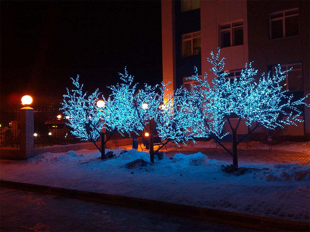 Уличные светодиодные деревья