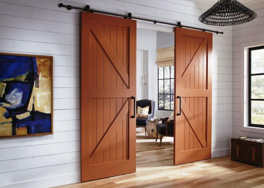 На фото: раздвижные межкомнатные двери