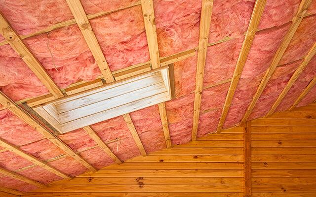 На фото: строительная каменная вата для теплоизоляции
