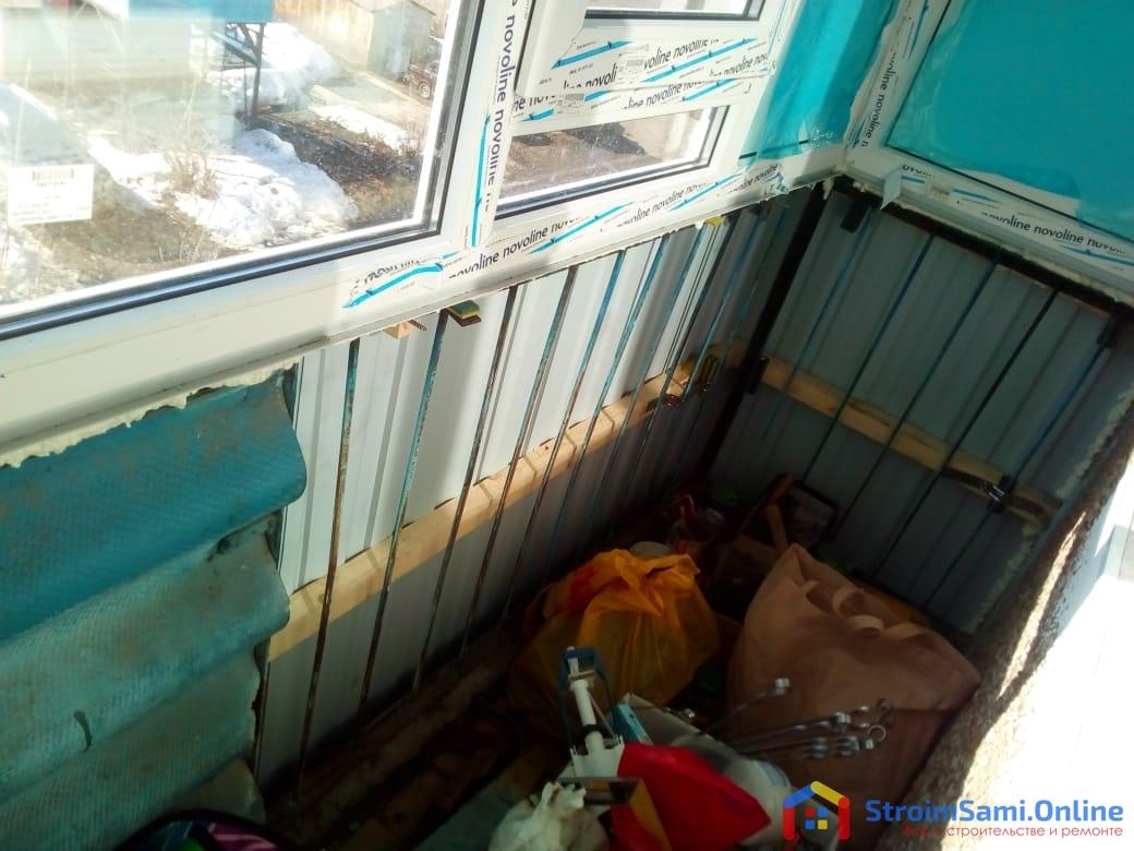 Фото 20: застекленный балкон (вид изнутри)