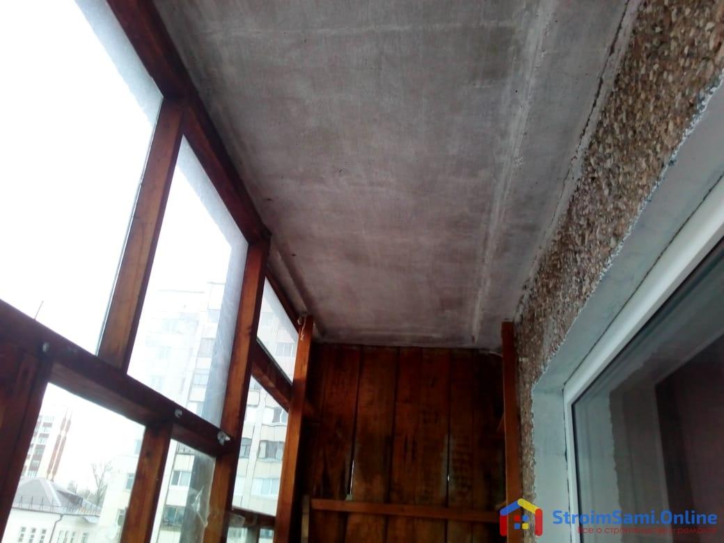 Фото 9: это так называемый потолок на балконе)))