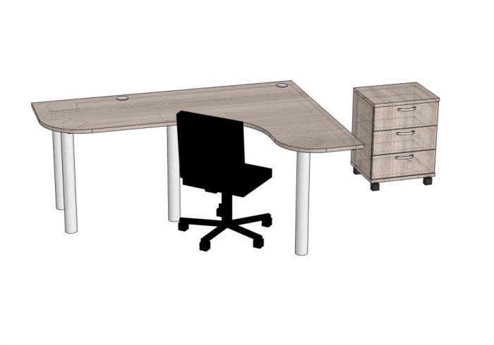 Фото 5: письменный стол и тумба