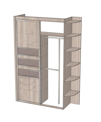 Фото 3: шкаф в спальню (вид с открытым платяным отсеком)