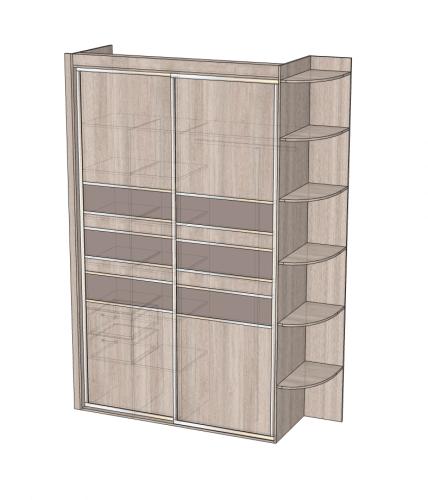 Фото 2: шкаф в спальню (вид с закрытыми дверями)