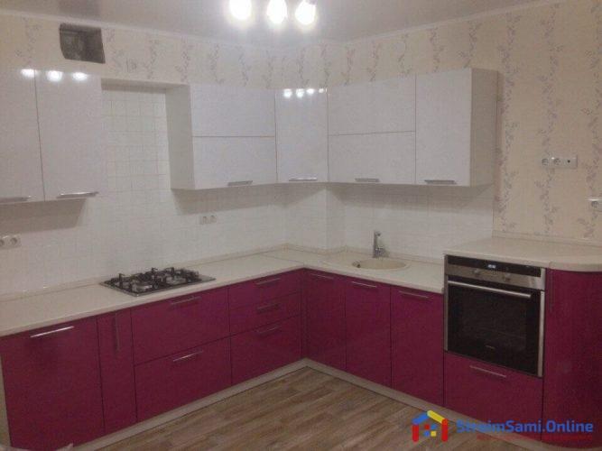 На фото: акриловая кухня