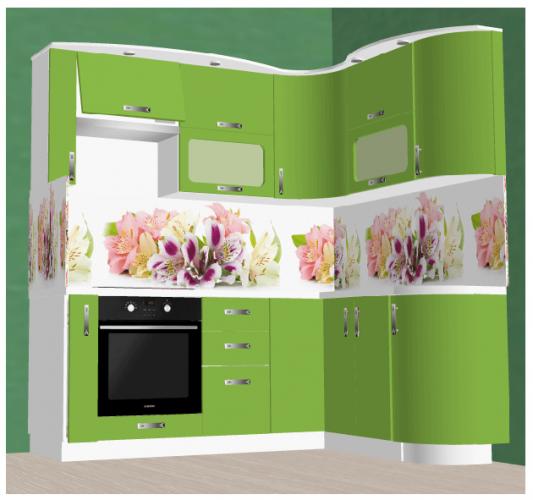 На фото: дизайн-проект угловой кухни