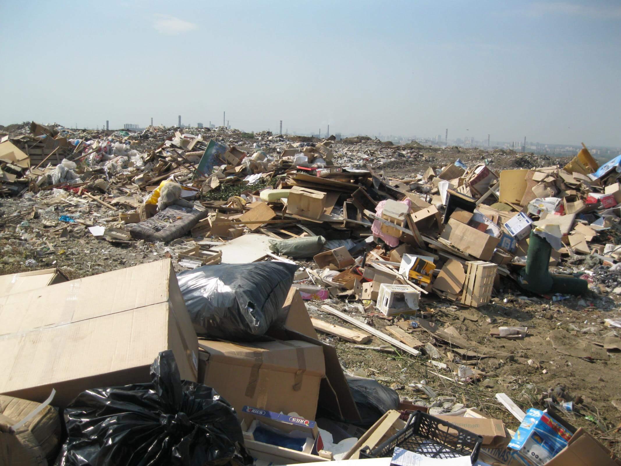 Строительный мусор на полигонах