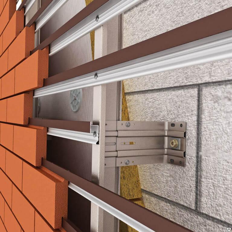 На фото: вентилируемый фасад