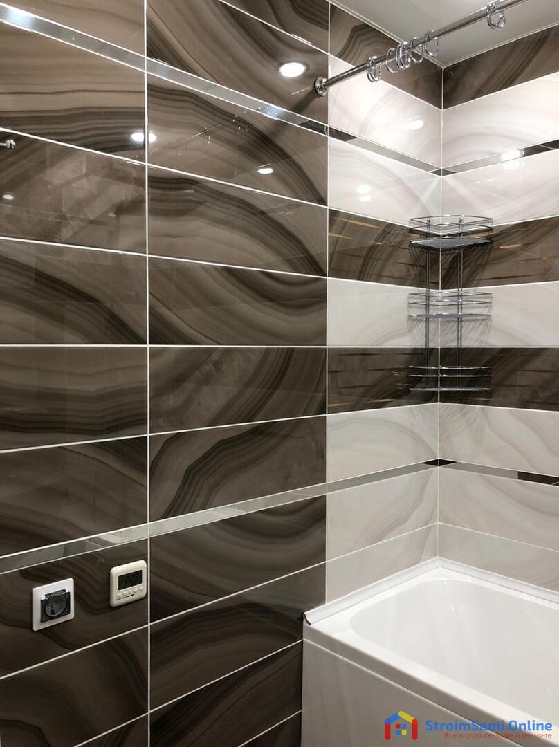 На фото: стены в ванной комнате