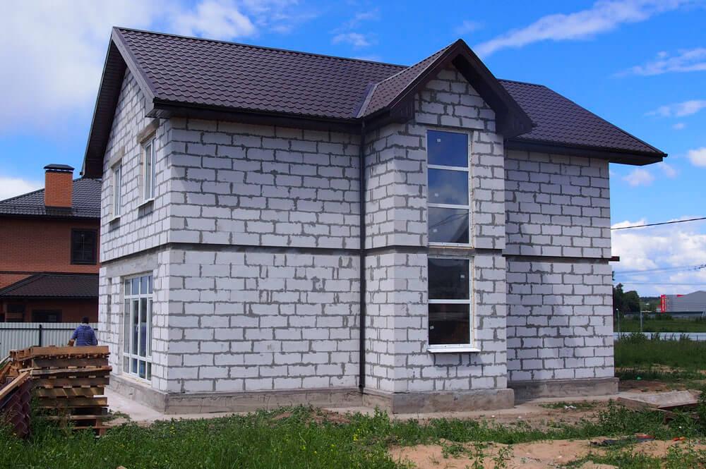 На фото: дом из газобетонных блоков