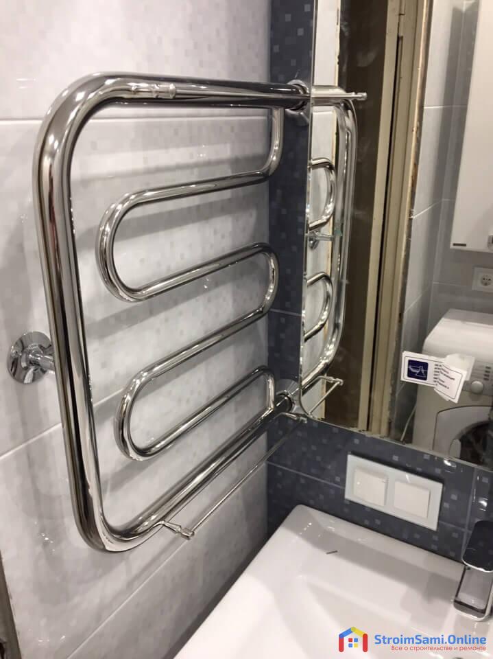 На фото: ремонт в ванной и санузле