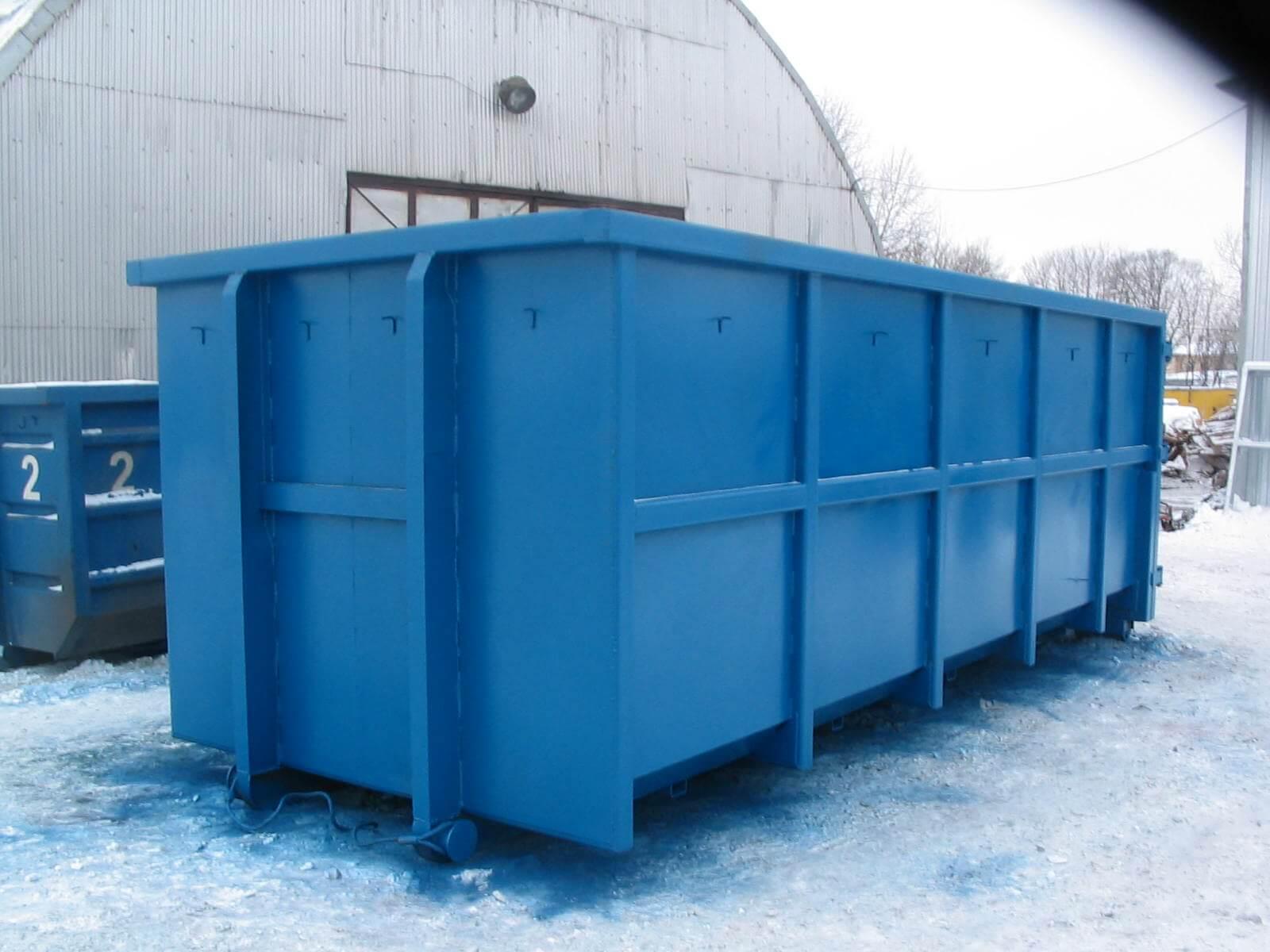 На фото: контейнер для мусора Пухто