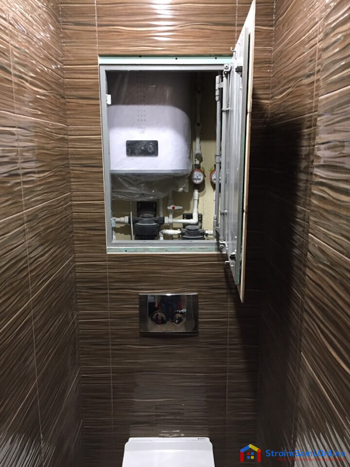 На фото: дизайн санузла в темных тонах
