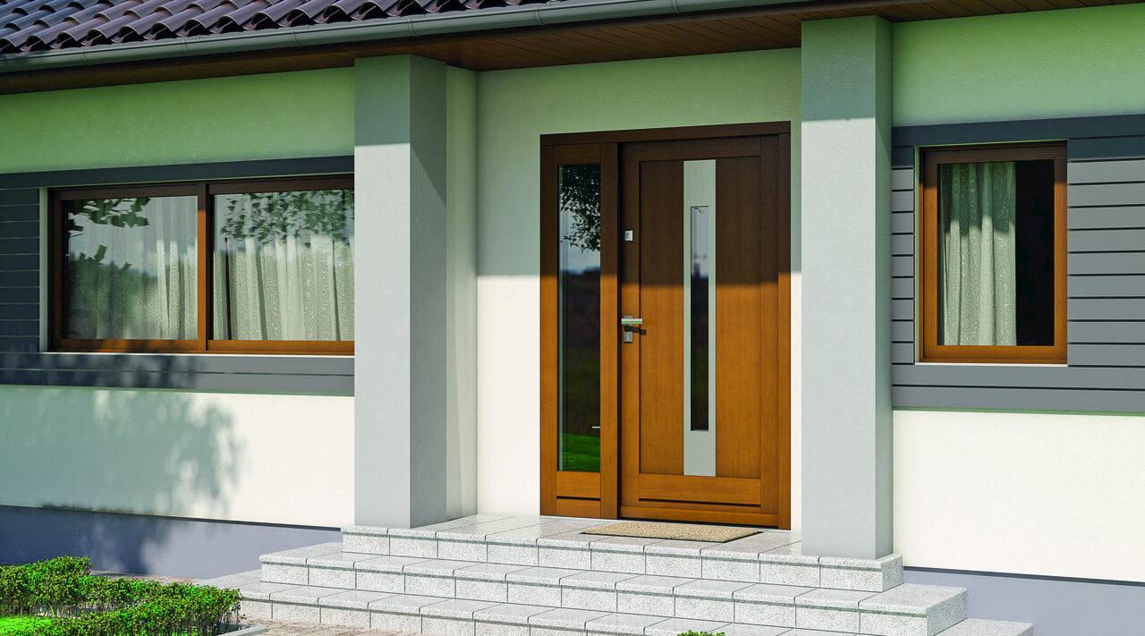 На фото: входные двери для коттеджа