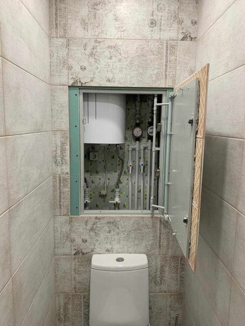 На фото: ремонт в санузле