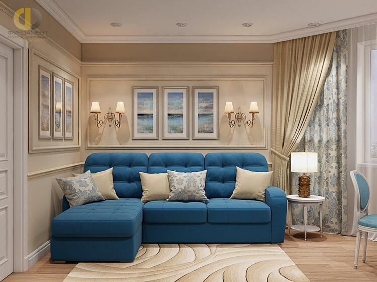 На фото: диван однотонного цвета