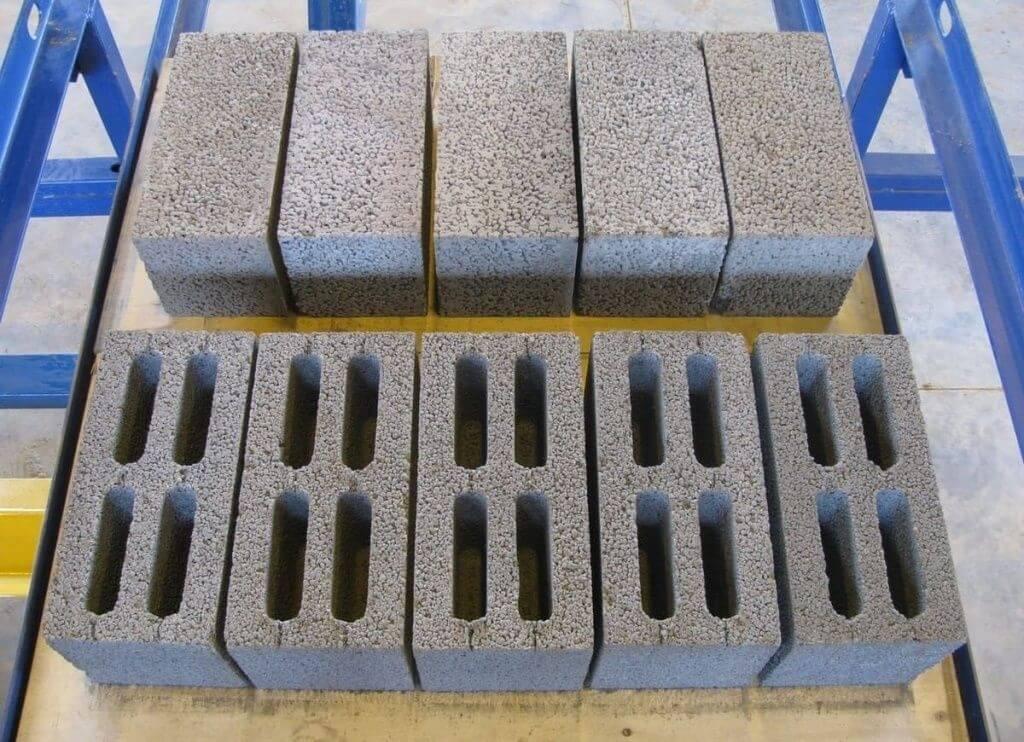 На фото: блоки из керамзитобетона